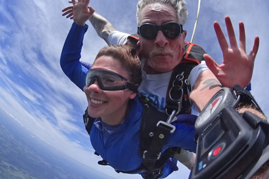 Tandem skydive with GoPro