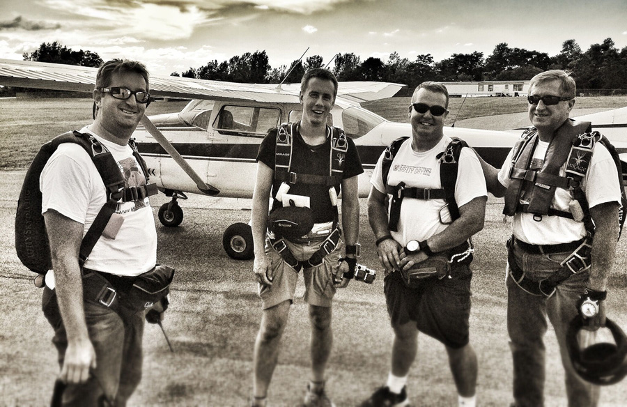 WNY Skydiving's Tim Allen and Crew