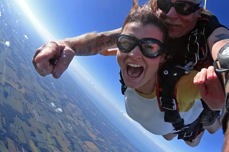 Are Skydivers Nuts? This tandem skydiver doesn't think so.