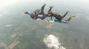 head down skydiving trainer