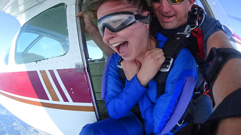 How safe is tandem skydiving? If you have an expert instructor like this woman, then very!