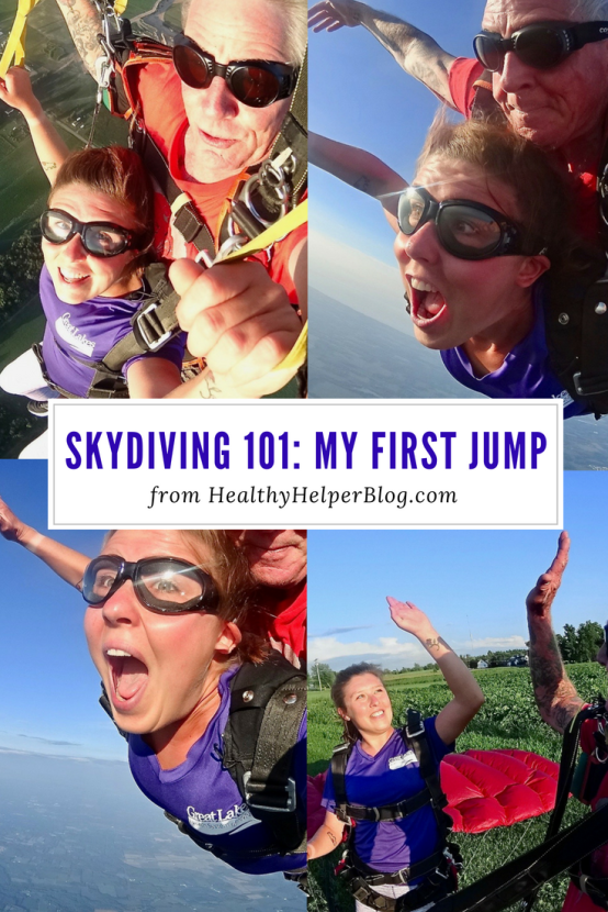 Her first skydiving experience - as chronicled by Kaila Proulx