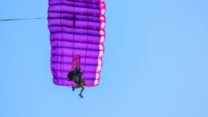 Skydiving in fall has the benefit of no crowds!