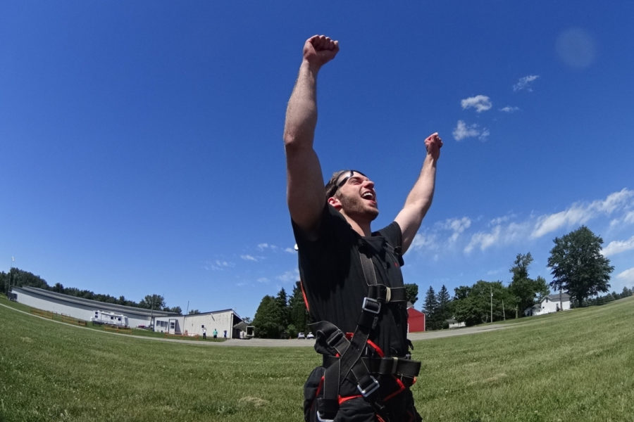 This skydiver had a great experience. He read our article about how to successfully book a skydive first.