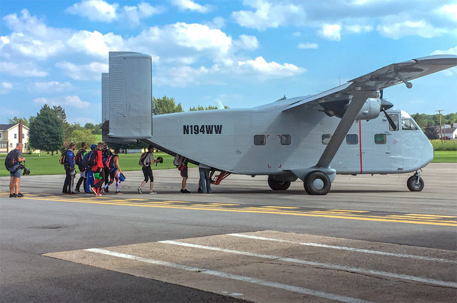 The Skyvan being loaded up at the 2018 Skydiving Boogie at WNY Skydiving.