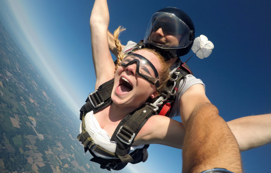 Can you breathe while skydiving? Why yes!