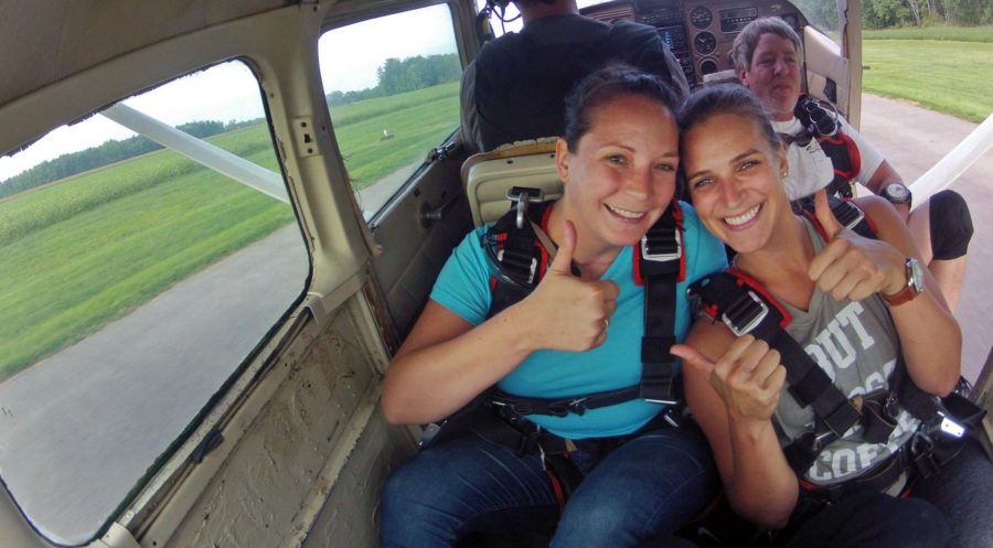 Ride up to altitude in the Cessna at WNY Skydiving