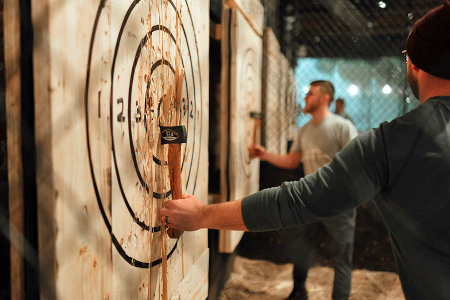 Axes and Ales are one of the most fun things to do in Buffalo at Hatchets and Hops.