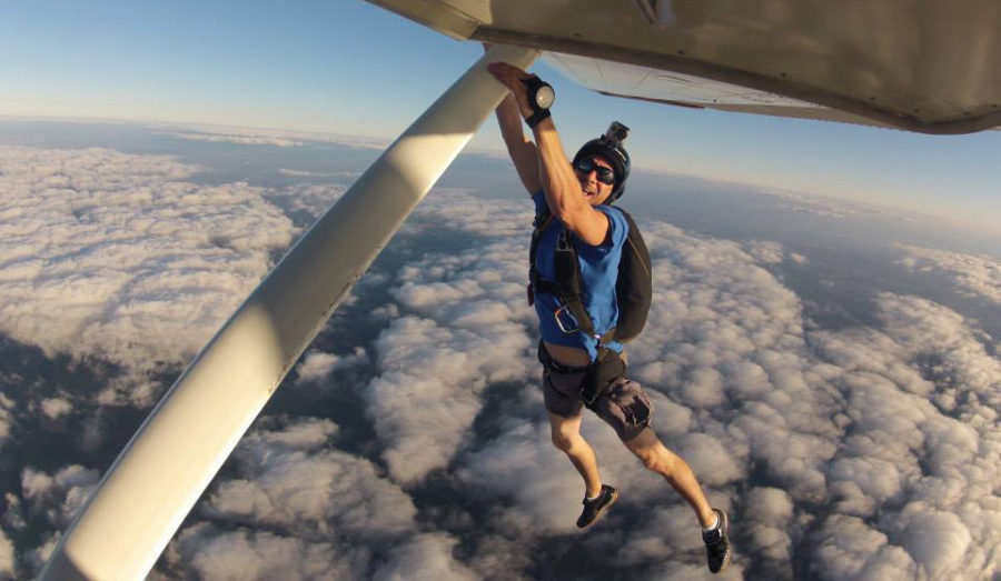 How much does it cost to become a skydiver? Ask this guy.