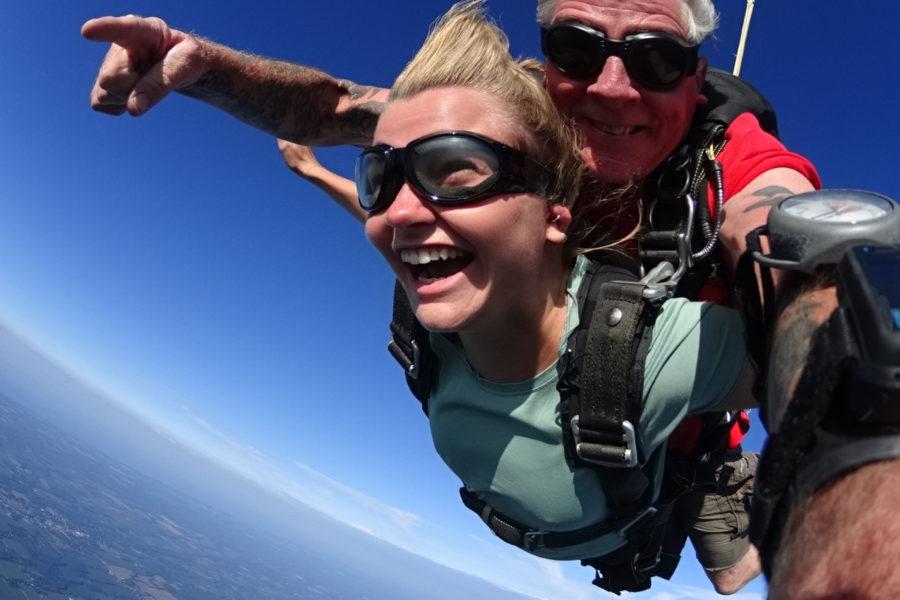 This tandem skydiver did it right - she learned about how to book a skydive and had an amazing experience!